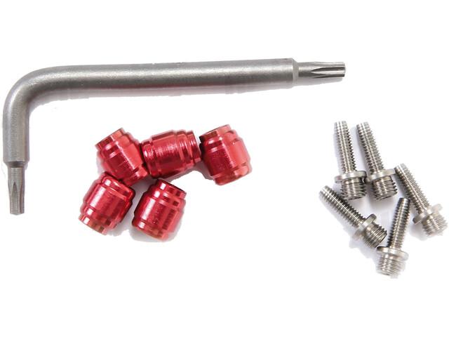 SRAM Klemmringe + Steckhülsen für Hydraulikleitung 5Pcs rot